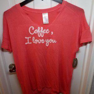 🇺🇸 3/$30 Coffee I Love You Super Soft NWT FREE +